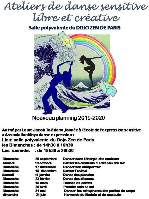 Affiche danse atelier 2019 2020 bis