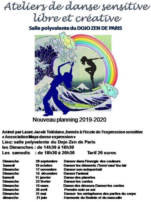 Planning danse sensitive atelier 2019 2020 modifie